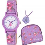 Tikkers Floral Watch Gift Set - Purple - ATK1021